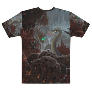 Lair of the Rainbow Dragon Allover Print T-shirt By Mark Cooper