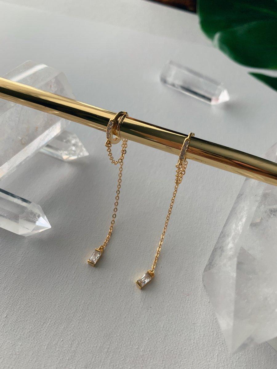 Image of INTERSTELLAR • Sterling dangle earrings