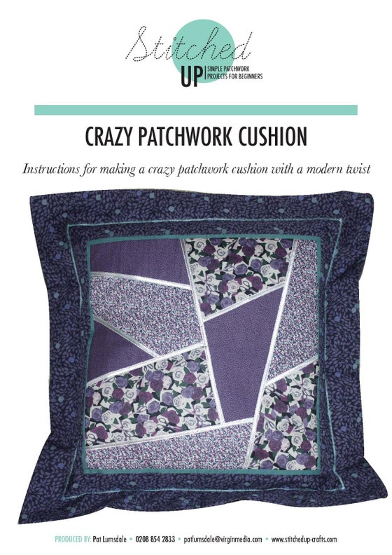Image of CRAZY PATCHWORK CUSHION