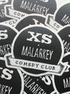 XS Malarkey Logo Sticker