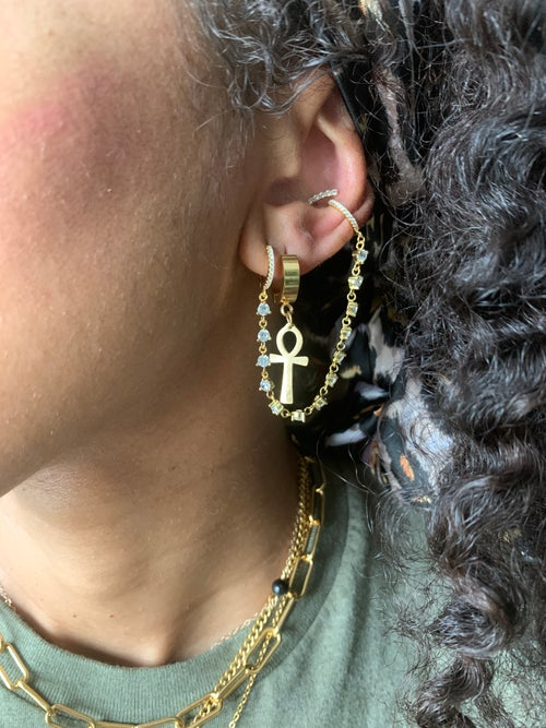 Image of VIBRATE • Ankh or Om Earrings