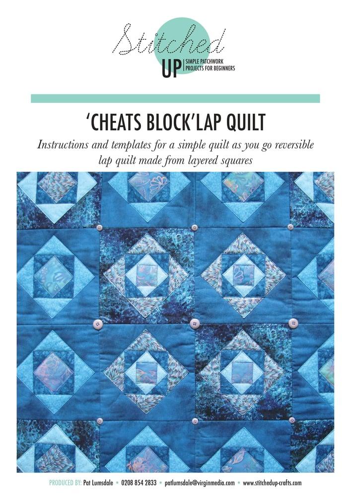 Image of 'CHEATS BLOCK' LAP QUILT
