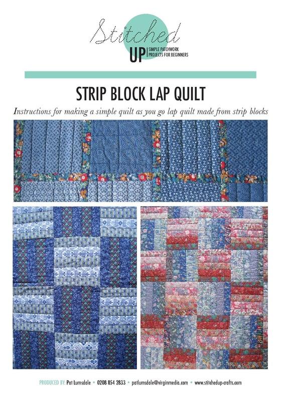 Image of STRIP BLOCK LAP QUILT