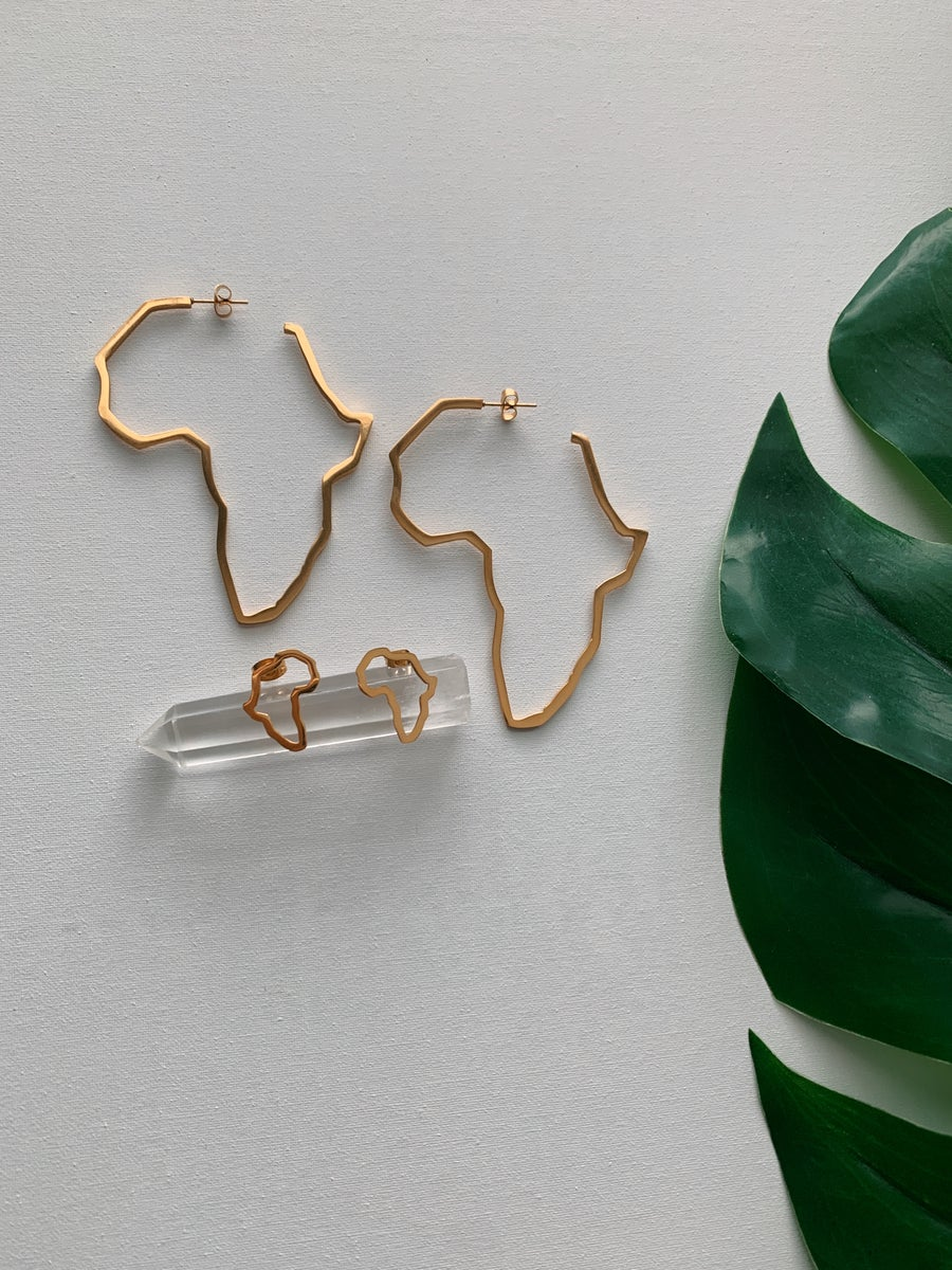 Image of MOTHERLAND DRIP • Africa Earrings