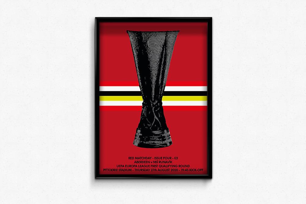 Image of Aberdeen FC Red Matchday Print - Aberdeen v NSÍ Runavík