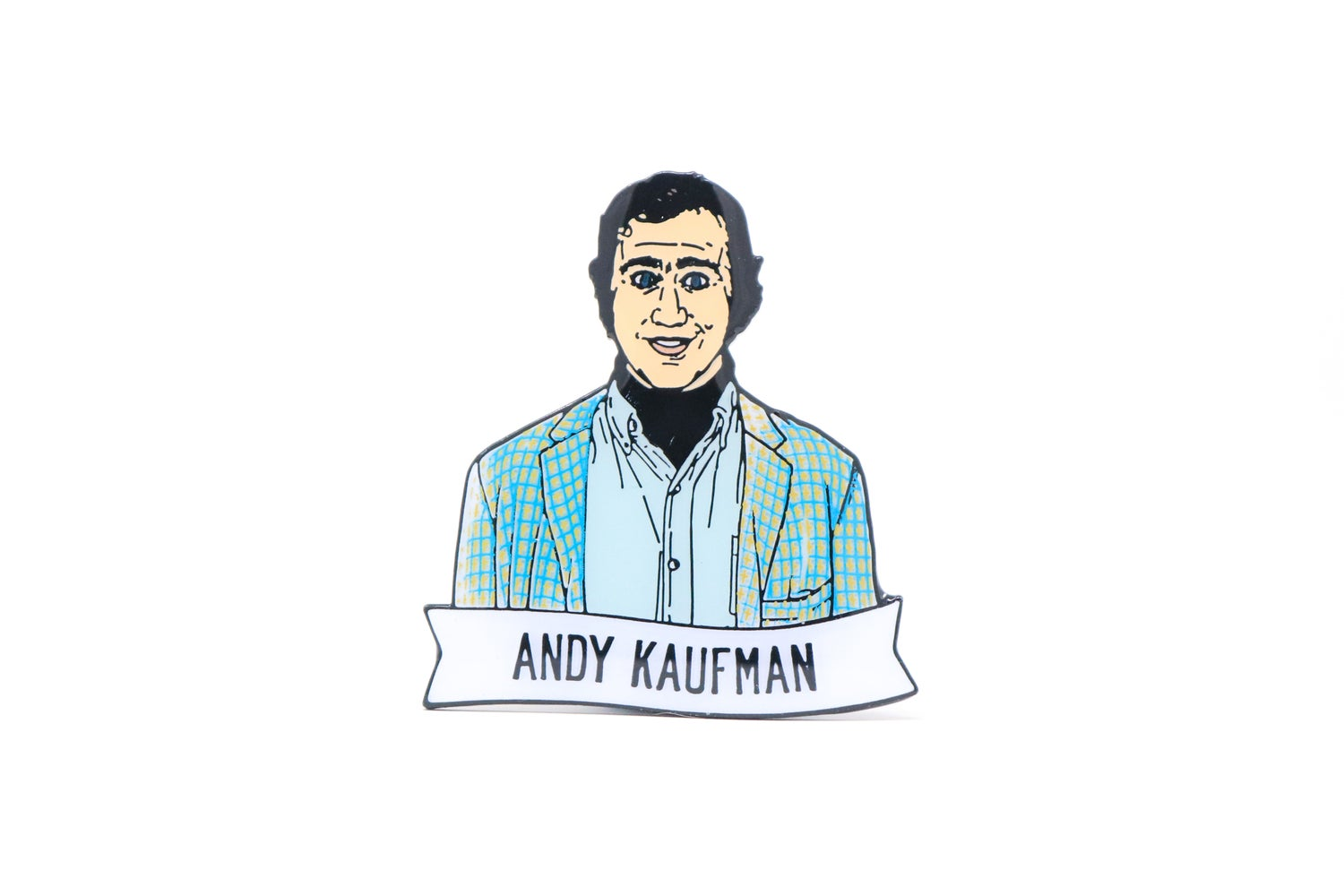 Image of Andy Kaufman Enamel Pin