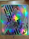 Holo Rude Deco Punk Enby Sticker