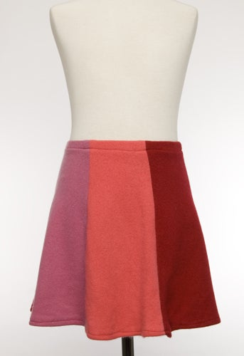 Image of Girls Cashmere Skirt - Pink/Red/Coral