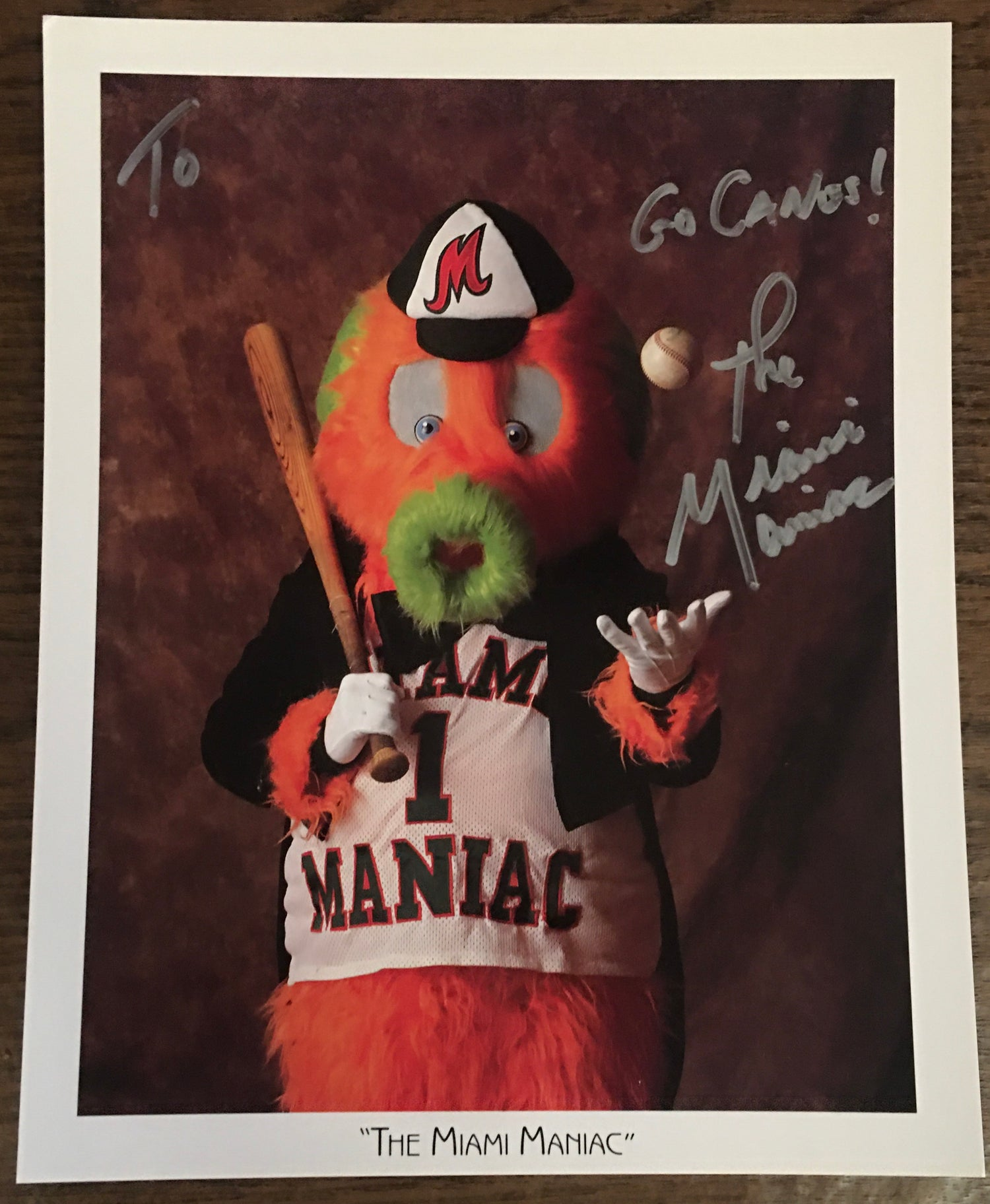 Image of Personalized MIAMI MANIAC signed 8 by 10 photo
