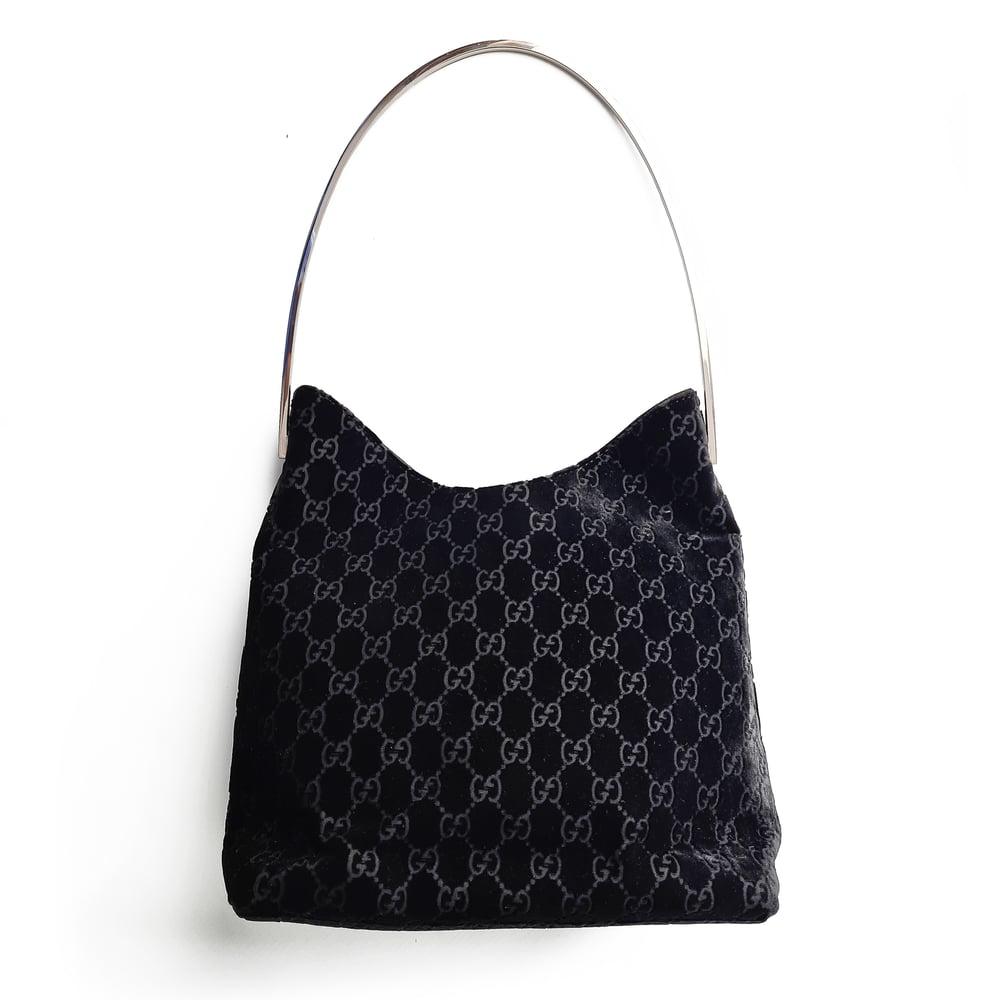 Image of Gucci by Tom Ford Velvet Shoulder Bag