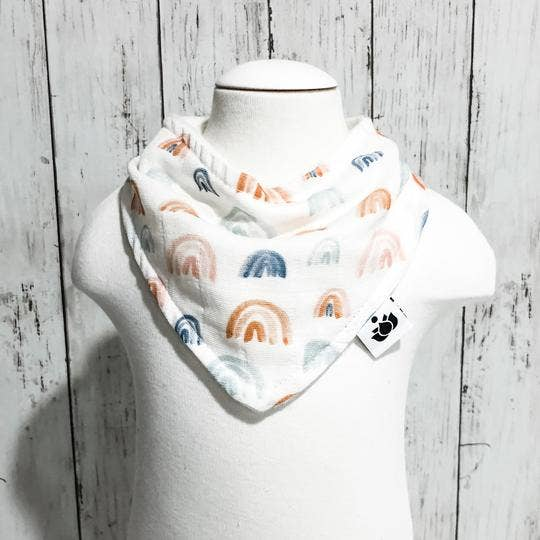 Image of Earthen Rainbow Bib (organic cotton + bamboo)