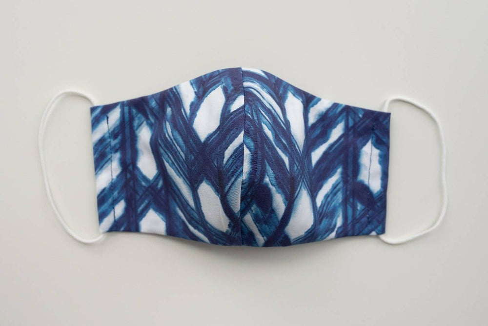 Image of Child's Cotton Face Mask - Shibori print