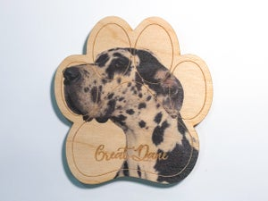 Image of Black & White Great Dane Magnet