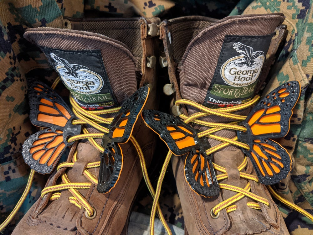 Image of 2 Pairs Monarch Butterfly Wings