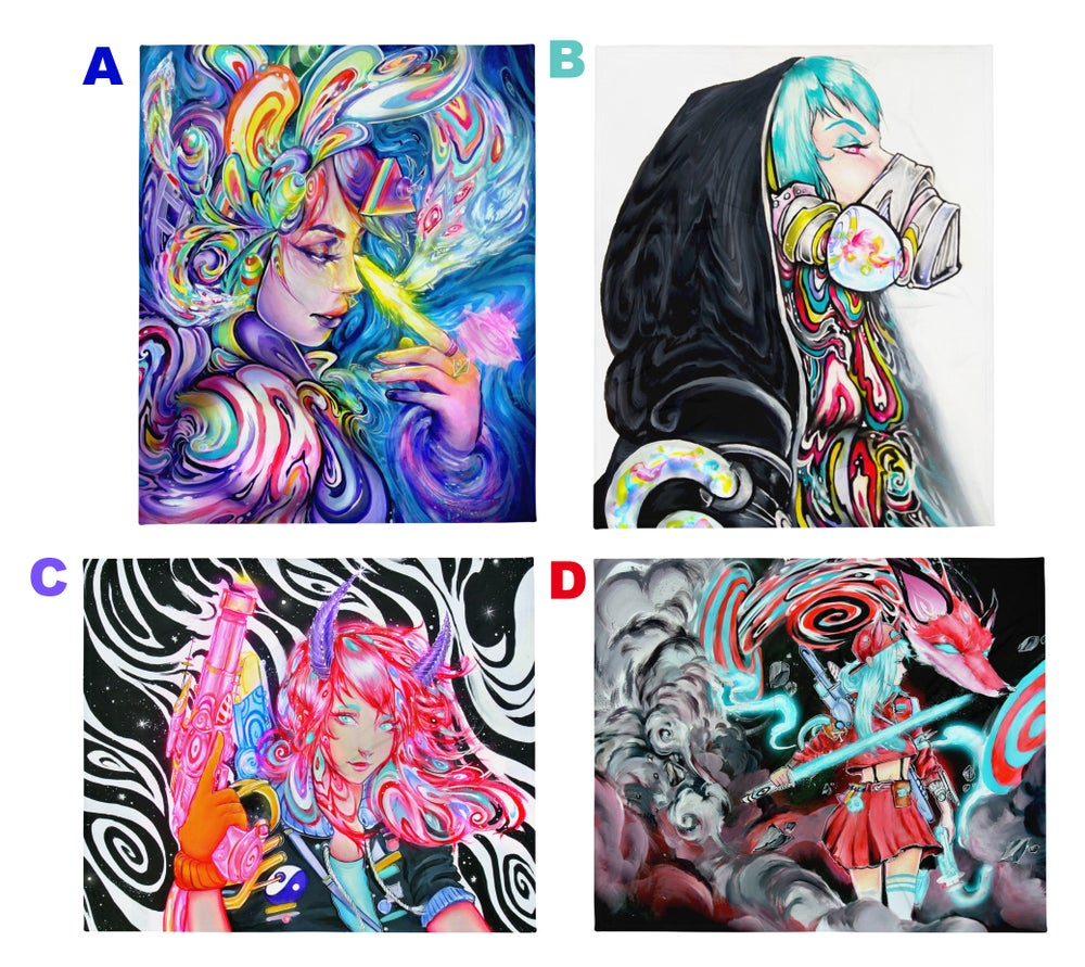 Image of 4 New Throw Blankets