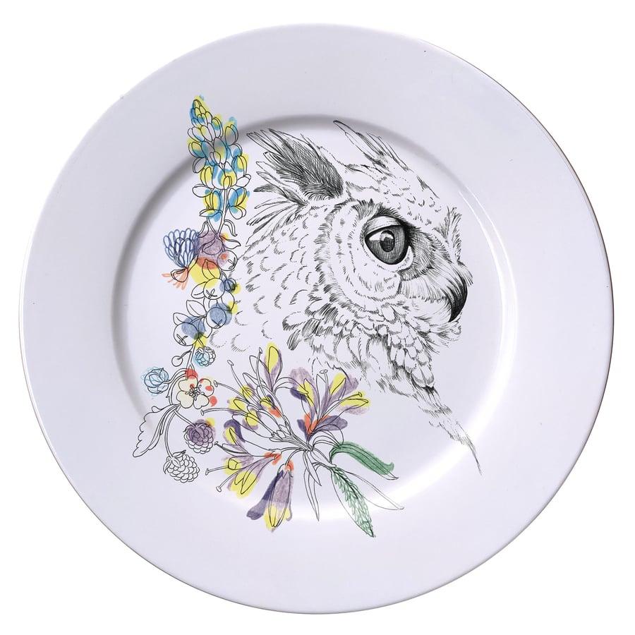 Image of GREAT HORNED OWL Dinner Plate