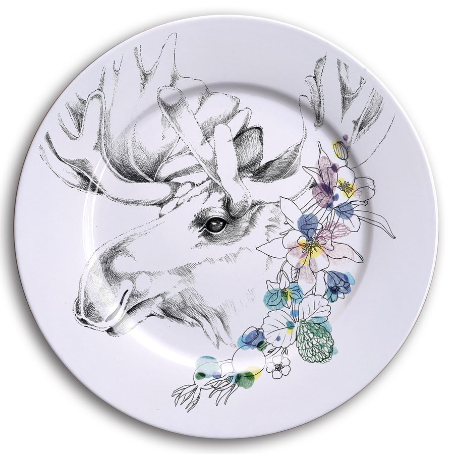 Image of MOOSE Dinner Plate