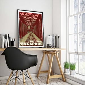 Image of Vintage Poster Singapore - Bukit Timah - Fine Art Print