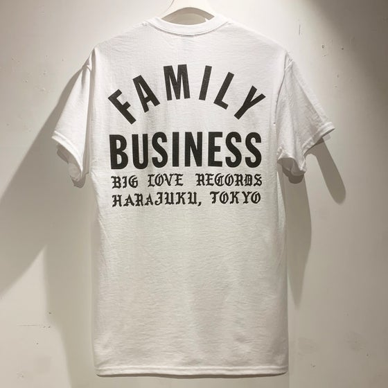 Image of FAMILY BUSINESS WHITE T-SHIRT -SHORT-