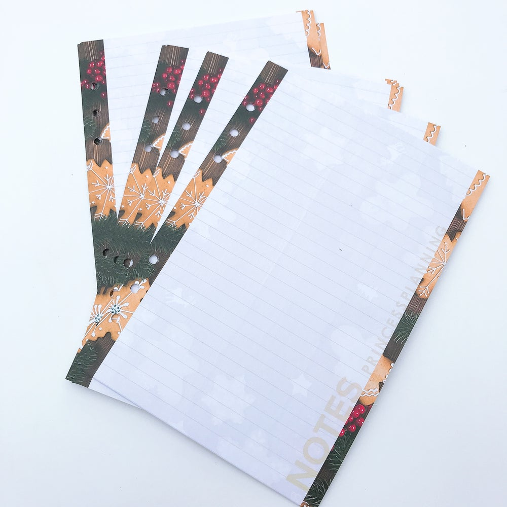 Image of A5  GINGERBREAD MAN NOTE PAPER PLANNER INSERT