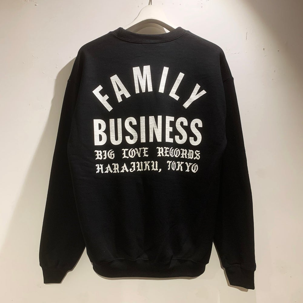 Image of FAMILY BUSINESS BLACK SWEATSHIRT