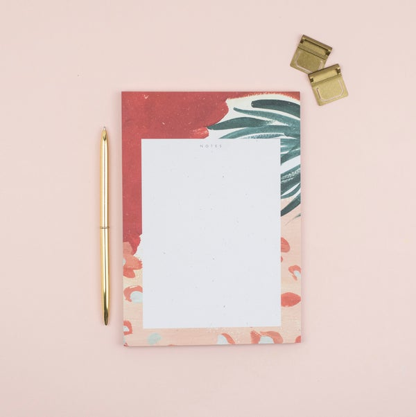 Image of Abstract Floral Tear Off A5 Notepad