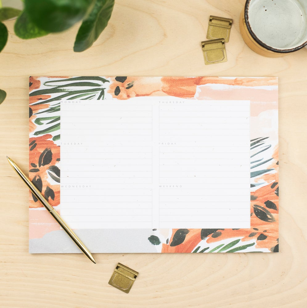 Image of Abstract Floral A4 Weekly Planner