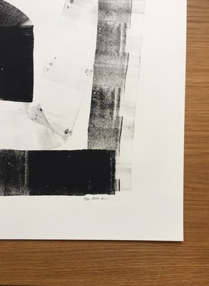 Image of Limited edition black lino 07