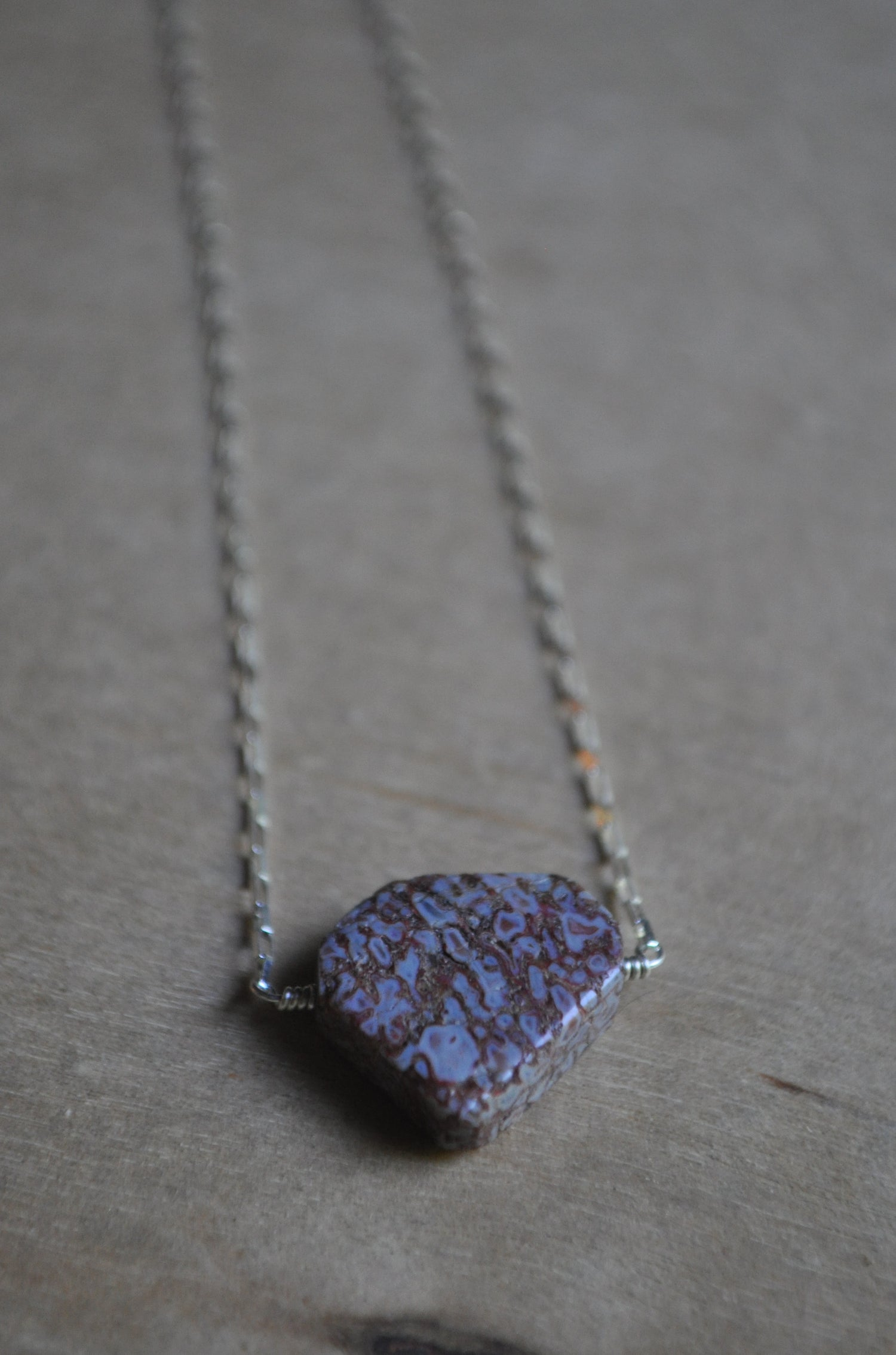 Image of Dino Bone Necklace in Sterling Silver