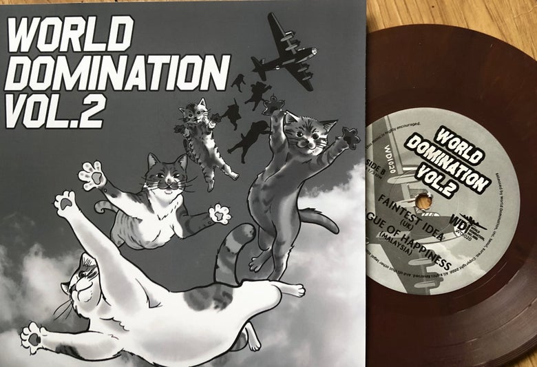 "Image of World Domination Inc Split 7"" Vol 2"