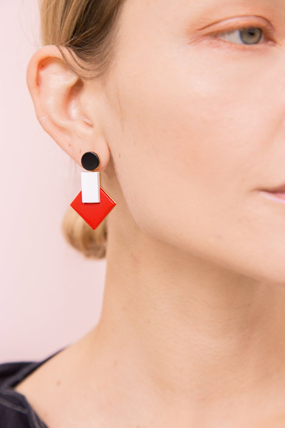 Boha earrings - Red