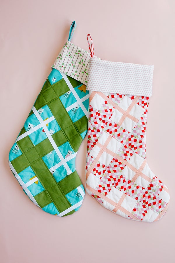 Image of PLAID TIDINGS Christmas Stocking Pattern PDF