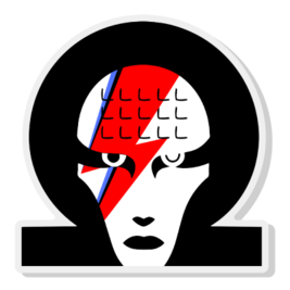 Image of Omega Bowie Badge