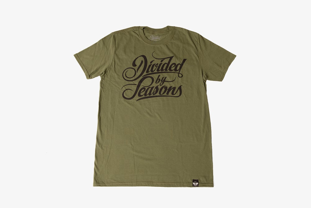 Image of Script Tee - Olive