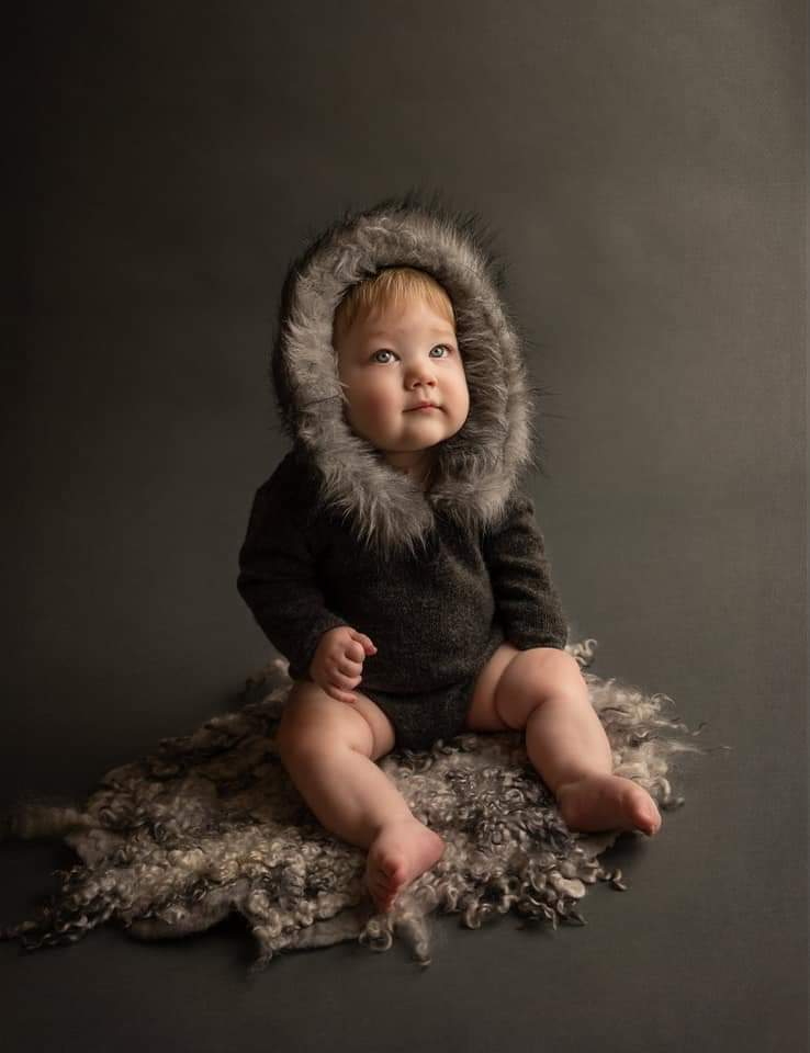 Image of Eskimo ready to post rompers