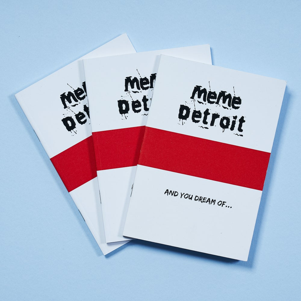 Image of MeMe Detroit logo notebook