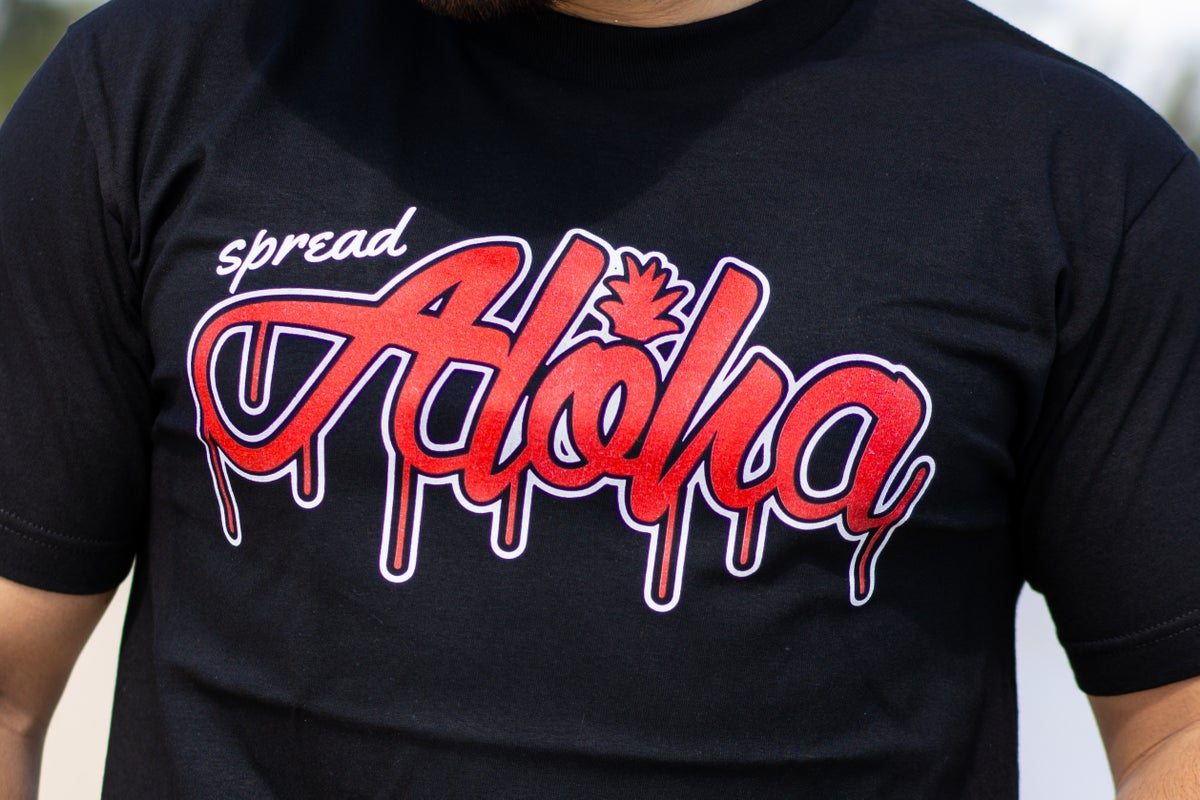 Spread Aloha Drip Tee (Black/Red)