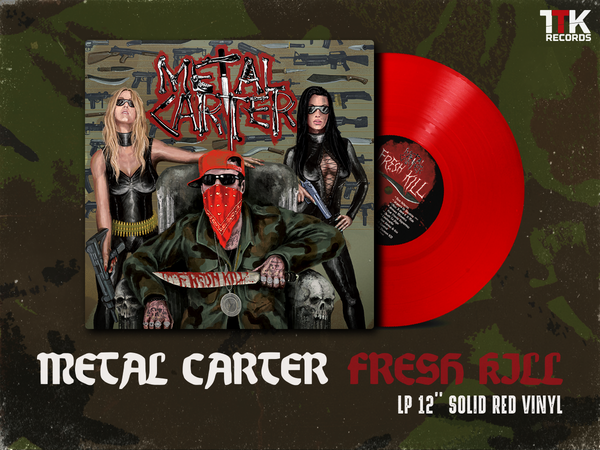 "Image of Metal Carter ""Fresh Kill"" - LP red ultramlimited edition"