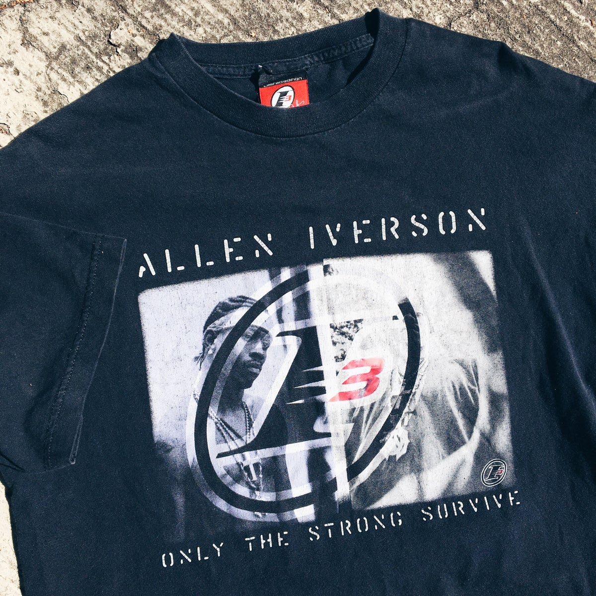 """Image of Original Early 2000's Reebok Allen Iverson """"The Answer"""" Tee."""