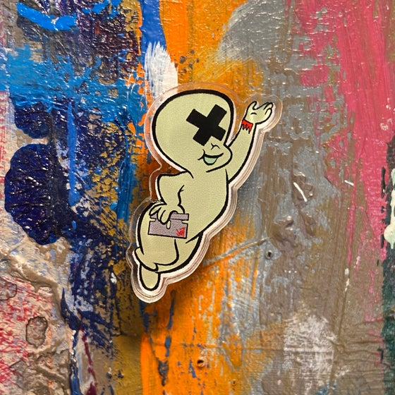 Image of VICTORY SALE-HALF OFF-SAD GHOST ACRYLIC PIN