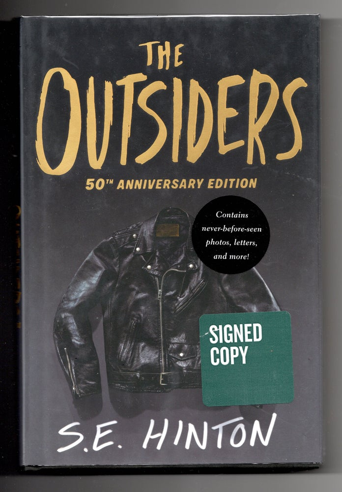 Image of The Outsiders by S.E. Hinton 50th Edition (Hardcover) Autographed by S.E. Hinton.