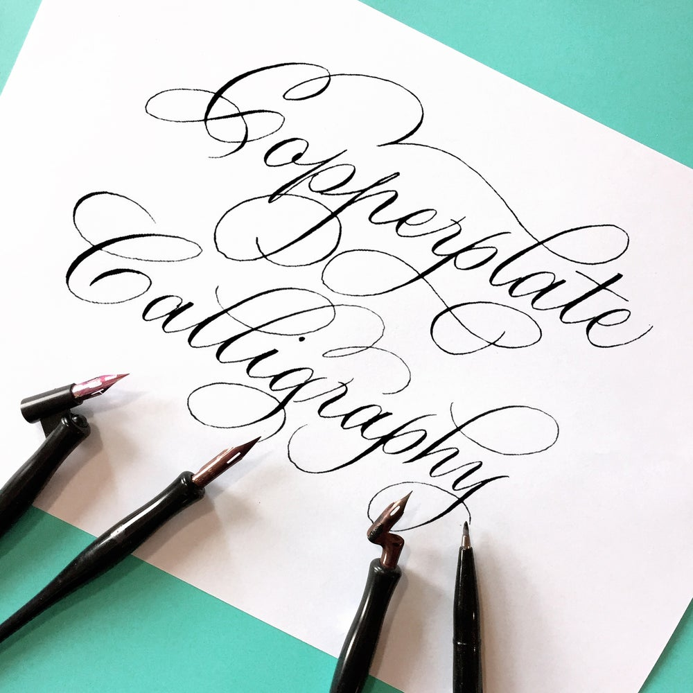 Image of ONLINE COPPERPLATE CALLIGRAPHY COURSE