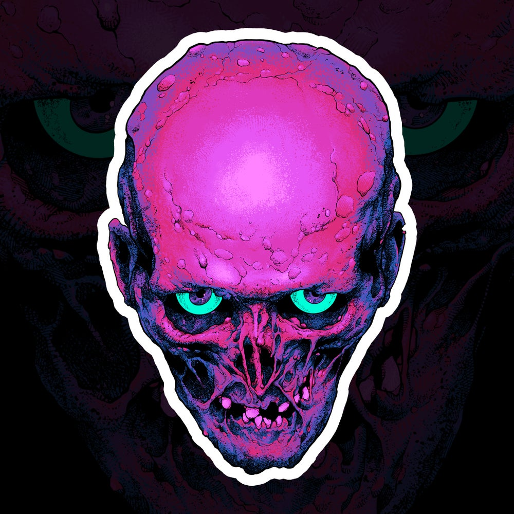 Image of Space Zombie Sticker