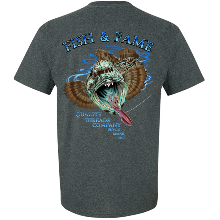 Image of Lingcod Tee (black heather)