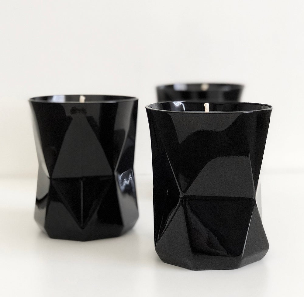 Image of GEO CANDLES - BLACK GLOSS - READY TO SHIP