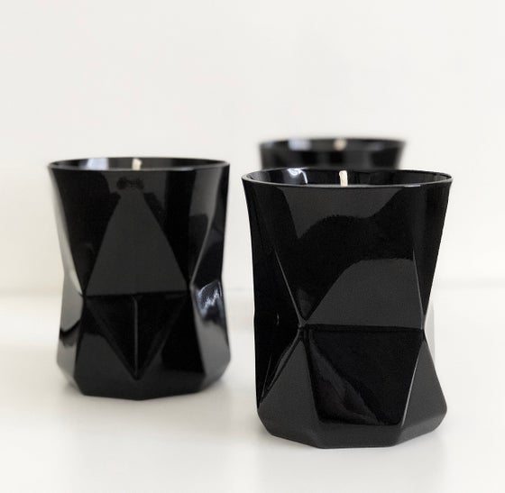 Image of GEO CANDLES - BLACK GLOSS