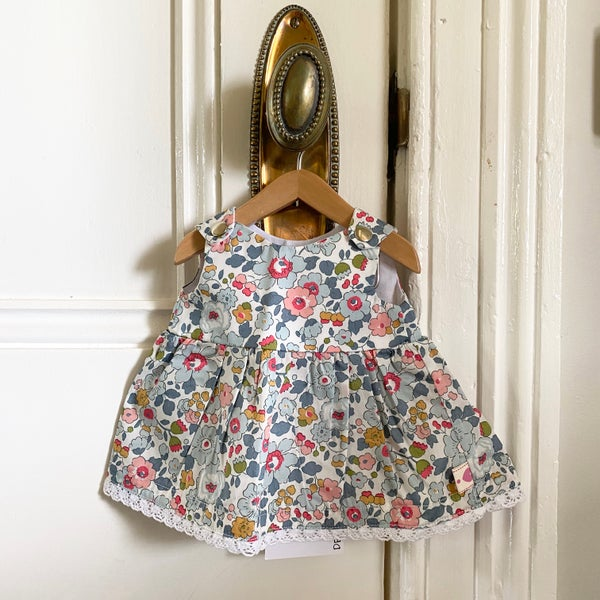 Image of Liberty dress to suit 38cm Miniland doll - 'Betsy P'