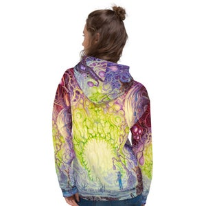 The Wanderer Allover Print Unisex Hoodie by Mark Cooper