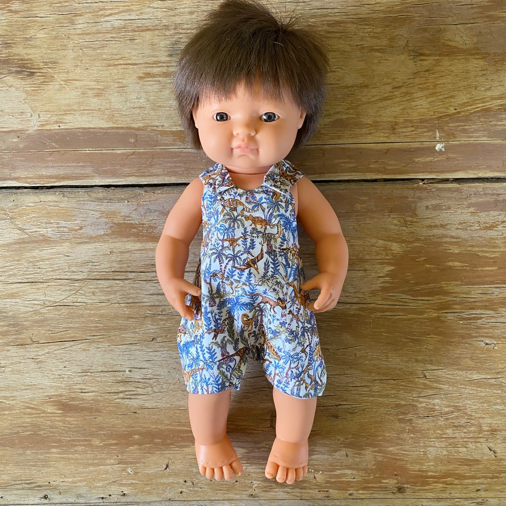 Image of Liberty Romper to suit 38cm Miniland doll - 'Rumble and Roar'
