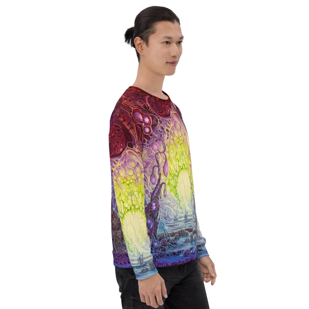 The Wanderer Allover Print Unisex Sweatshirt by Mark Cooper